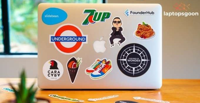 how to decorate laptop with stickers